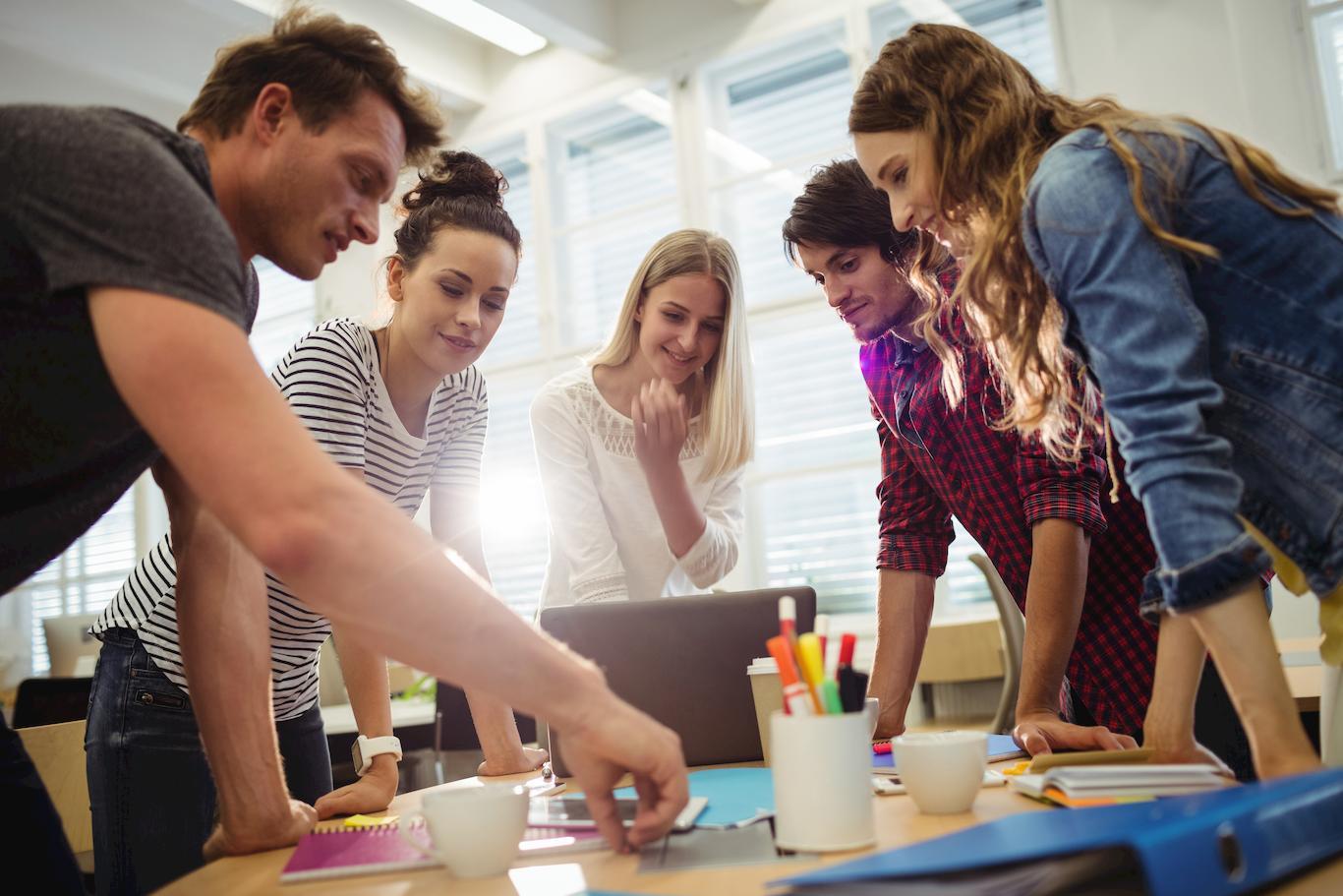 equipo de trabajo emprendedores